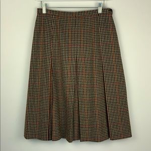 Vintage 100% Wool Plaid Tartan Pleated Skirt